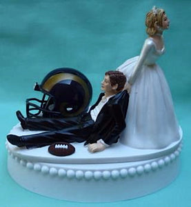 Los Angeles Rams wedding cake topper L.A. LA NFL football sports humorous funny fans bride groom