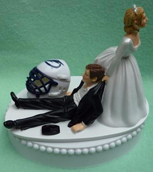 Wedding Cake Topper - Tampa Bay Lightning Hockey Themed