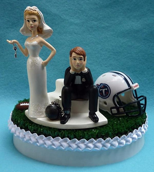 Wedding Cake Topper - Tennessee Titans Football Themed Key