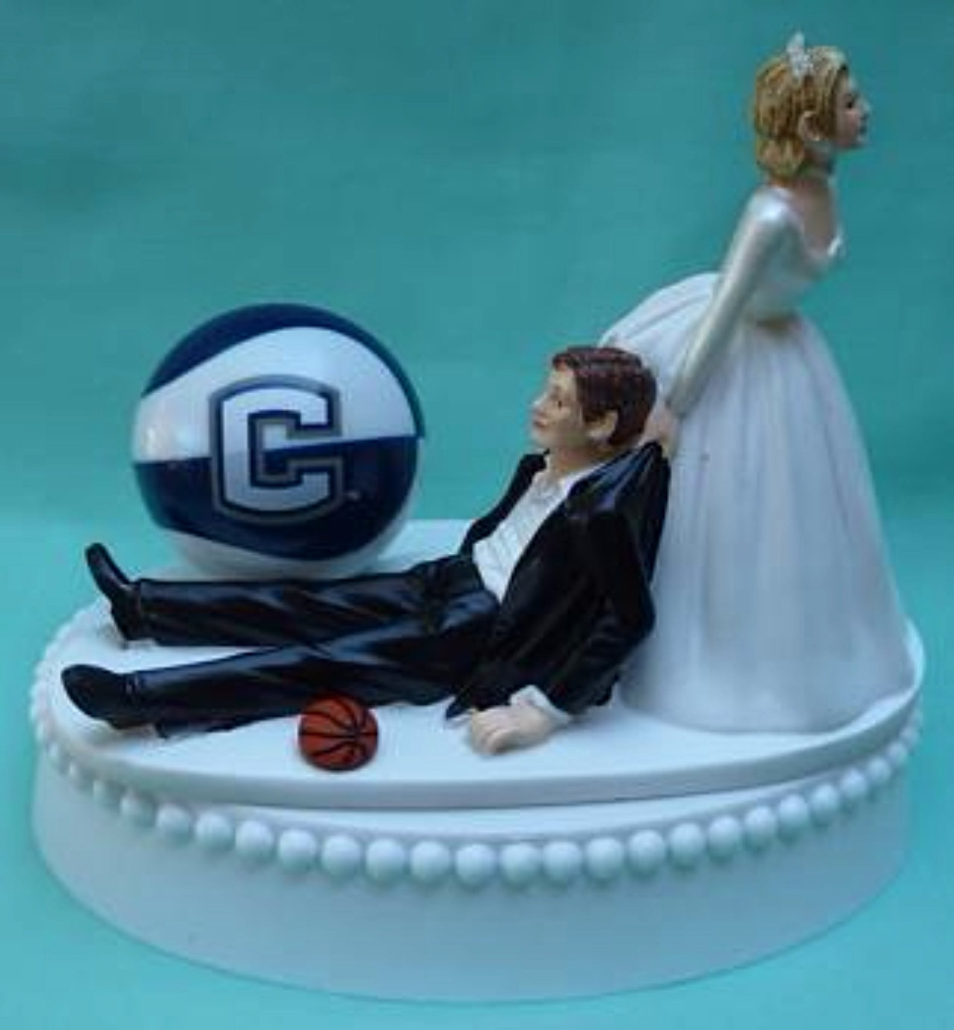 UConn basketball University of Connecticut wedding cake topper Huskies funny sports bride groom humorous Fun Wedding Things