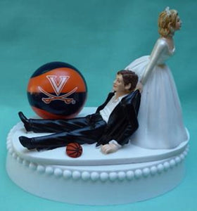Virginia Cavaliers basketball wedding cake topper UVA Cavs University of funny humorous sports fans bride groom Fun Wedding Things