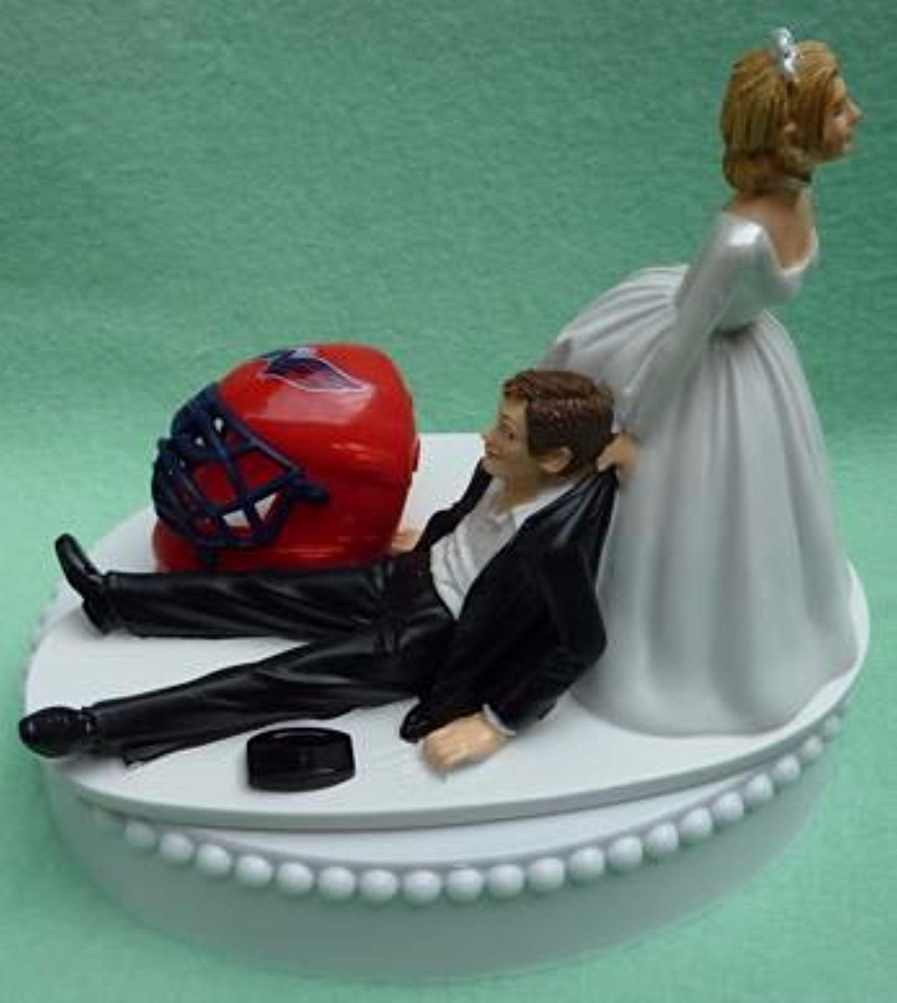 Wedding Cake Topper - Washington Capitals Hockey Themed Caps