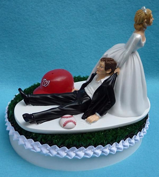 Wedding Cake Topper - Washington Nationals Baseball Themed Nats