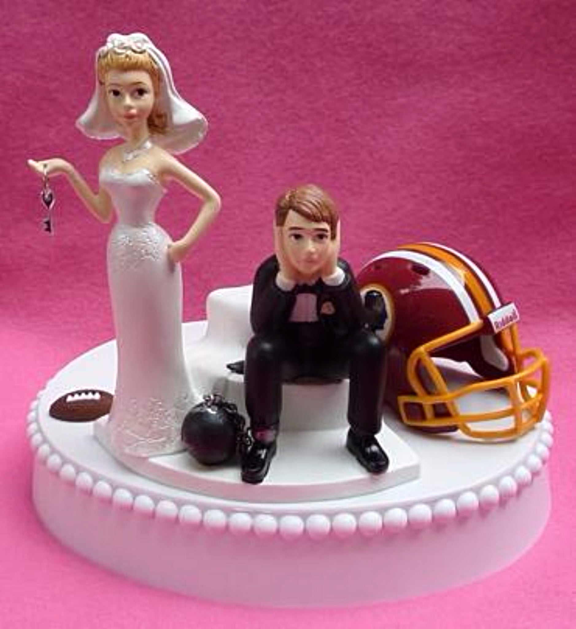 Wedding Cake Topper - Washington Redskins Football Themed Key