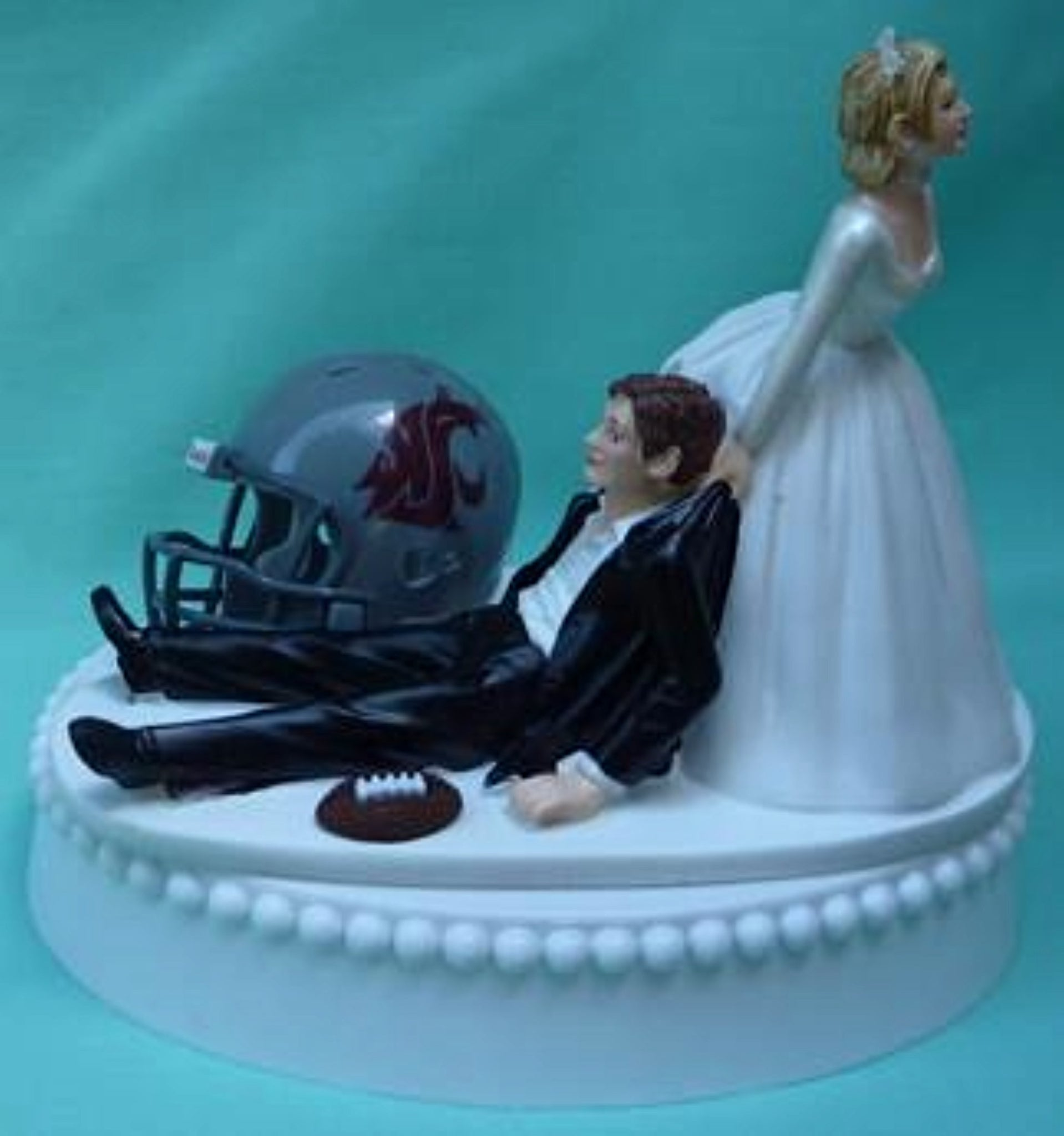 Wedding Cake Topper - Washington St. University Cougars Football Themed State WSU