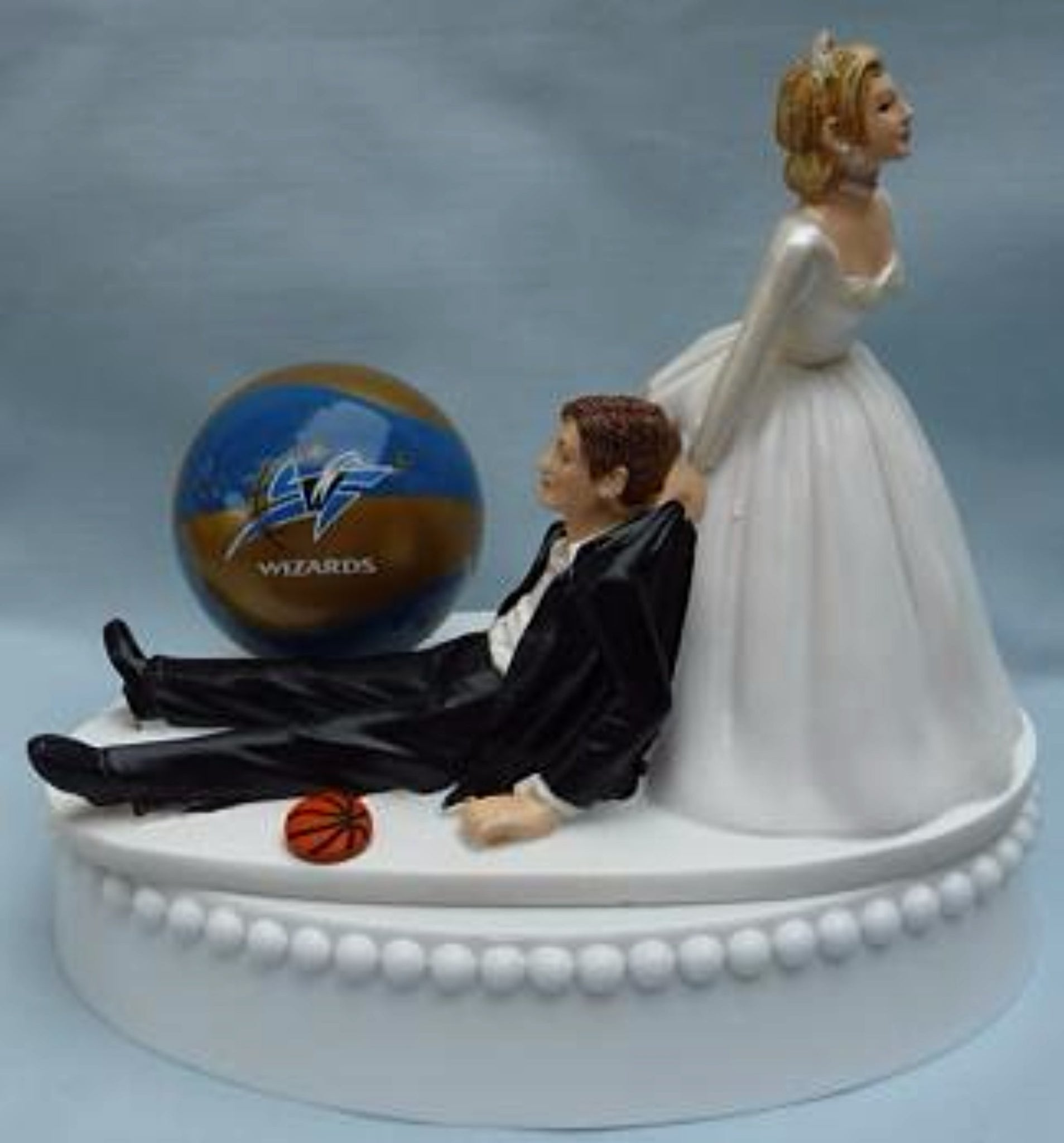 Washington Wizards wedding cake topper NBA basketball sports fans bride groom's cake top fun humorous FunWeddingThings.com unique original