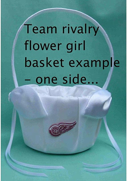 Flower Girl Basket - Any of Our Listed Garter Set Themes are Available as a Flower Girl Basket