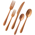 Caledonia Copper 20 Piece Flatware Set, Matte Finish