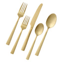 Summerside Champagne 20 Piece Flatware Set, Matte Finish