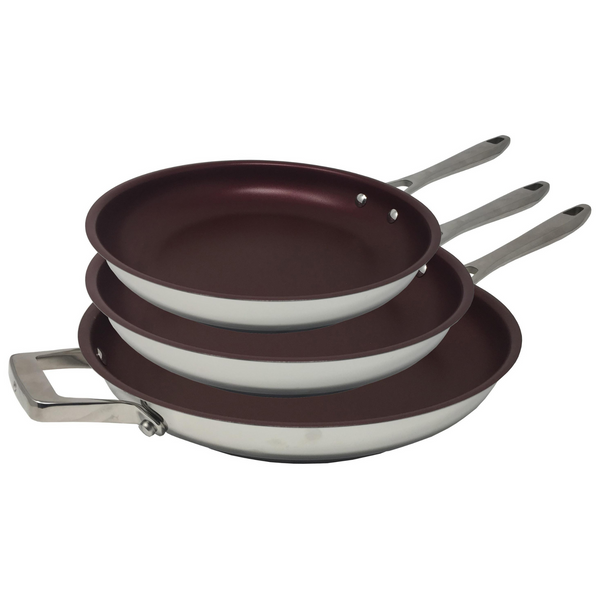 Paderno Canadian Signature Stainless Steel Non Stick Fry Pan