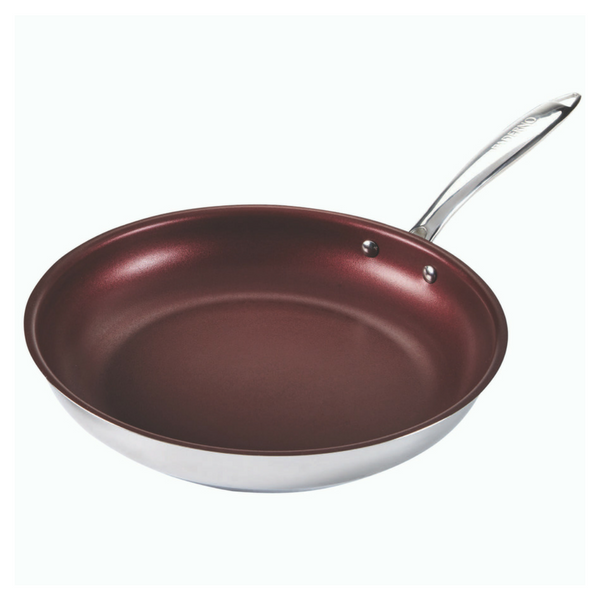 11-Inch Stainless-Steel PFOA-Free Non-Stick Cookware with Riveted Stay Cool Handles Paderno Canadian Signature Frying Pan