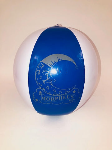 LED BLUE AND WHITE BEACH BALL WITH IMPRINT (DZ)