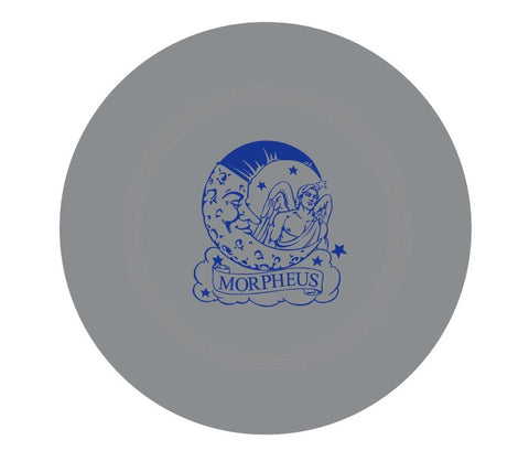 "Thick 9"" Silver Frisbee with Morpheus Logo in Blue  (6PC)"