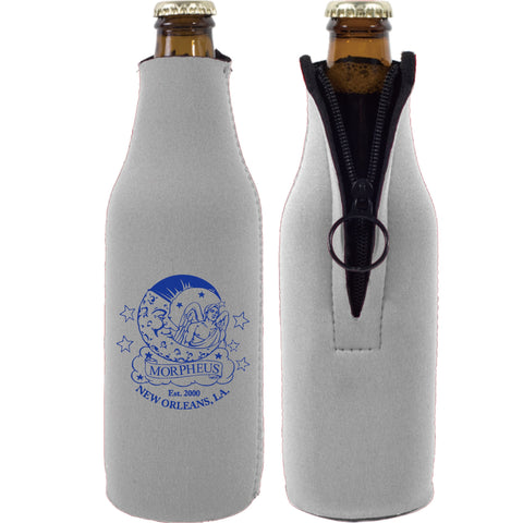 MORPHEUS GRAY BOTTLE COOZIE WITH BLUE LOGO (6PC)