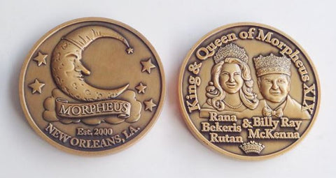 2021 King and Queen Heavy Doubloon - Bronze (Each)