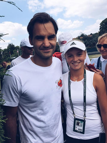 Caijsa Tennis player with Roger Federer