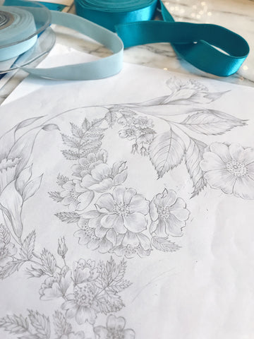 Ivincia textile design drawing