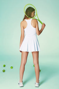 AMELIA WHITE PIQUÉ TENNIS DRESS