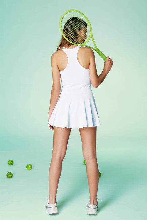 White tennis dress in classic style by Ivincia