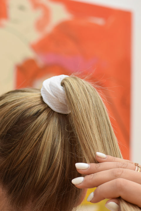 White Tennis Thrill Scrunchie