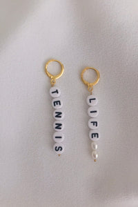 TENNIS LIFE EARRINGS