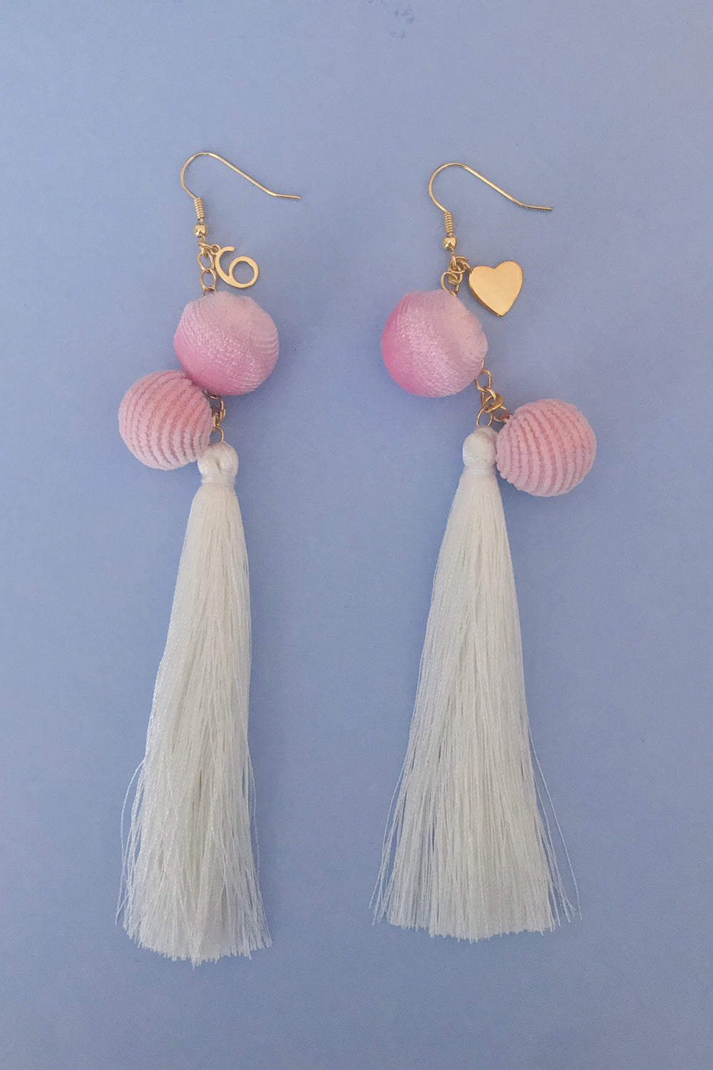 Six Love Pink Pom Pom Earrings