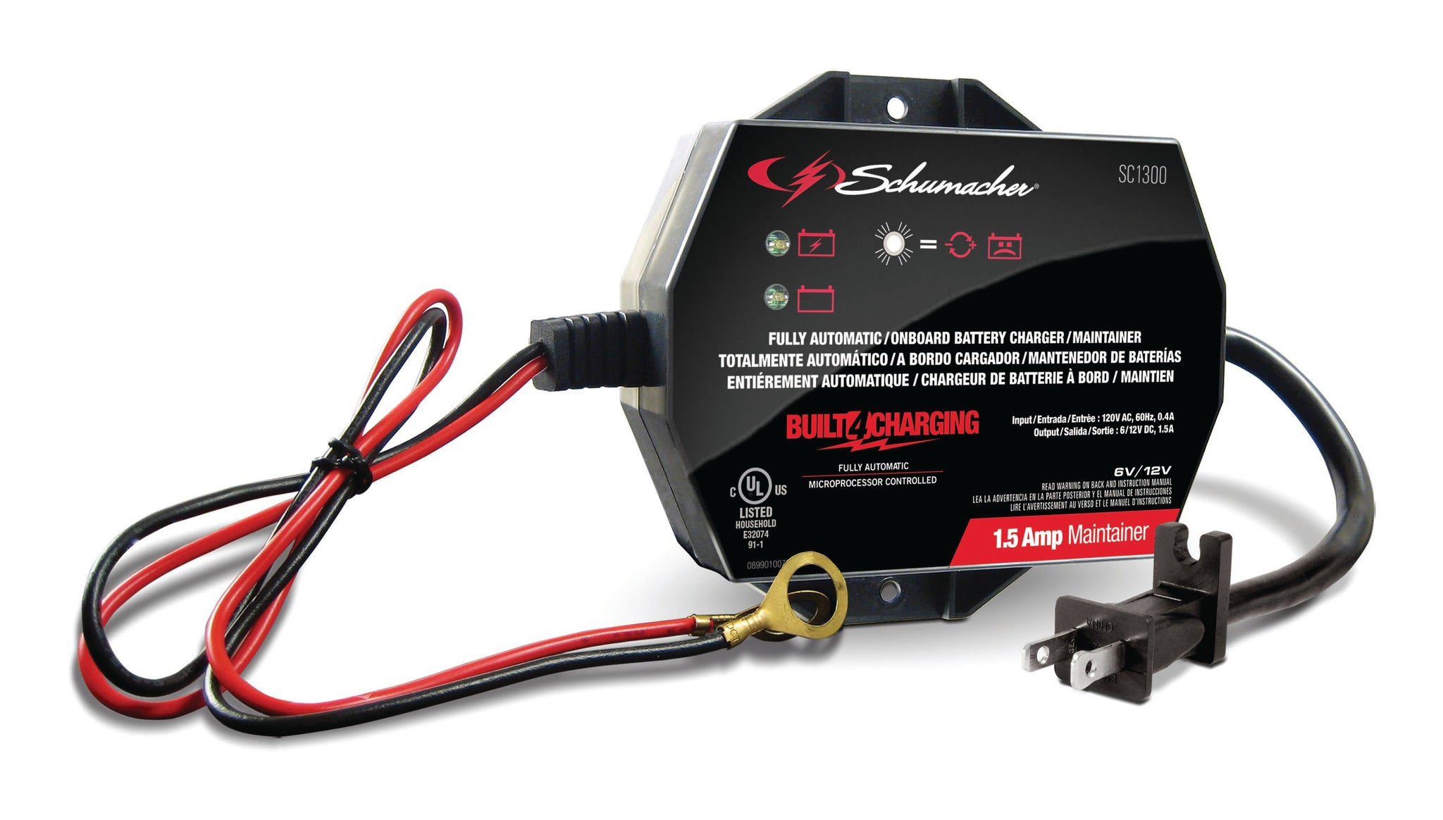 Schumacher 1.5A Onboard Battery Charger & Maintainer