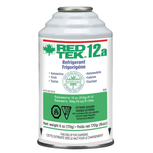 RED TEK Aerosol 12a Refrigerant Can, 6-oz