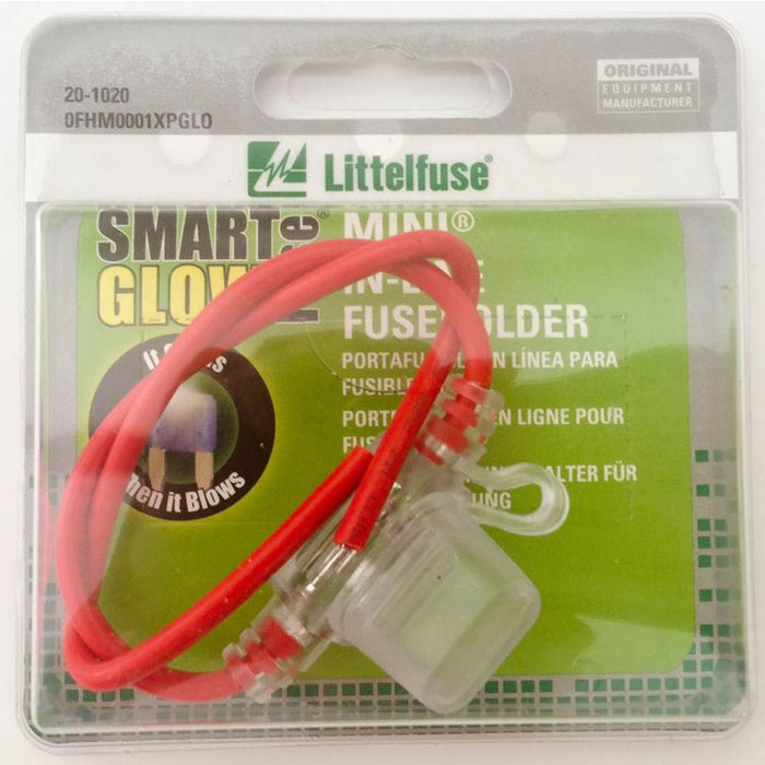 0FHM0001XPGL Littelfuse Mini In-Line Glow Fuse Holder