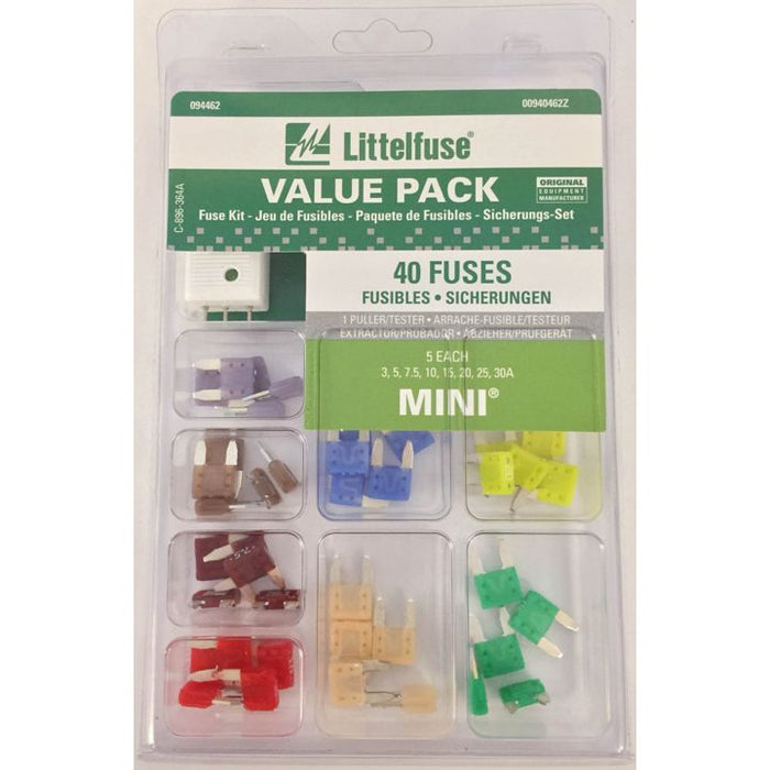 00940462Z Littelfuse Mini Fuse Kit, 40-pc