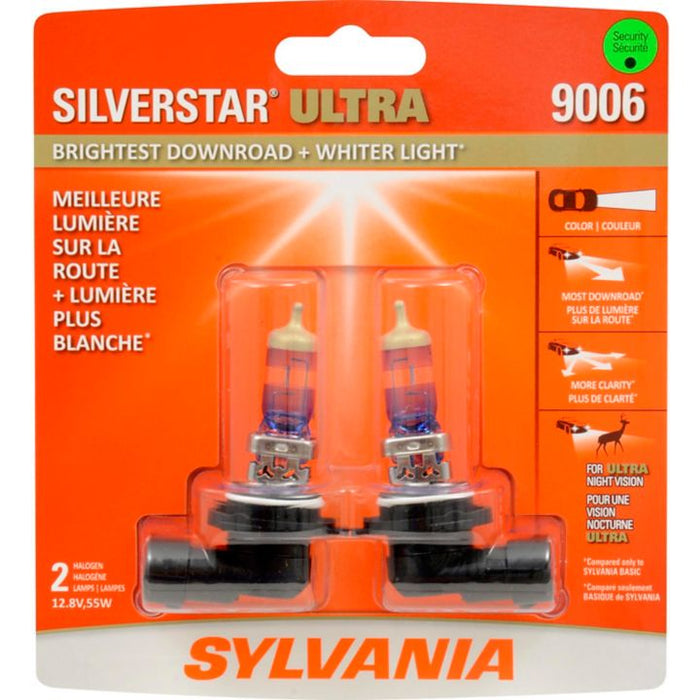 9006 Sylvania SilverStar® ULTRA Headlight Bulbs, 2-pk