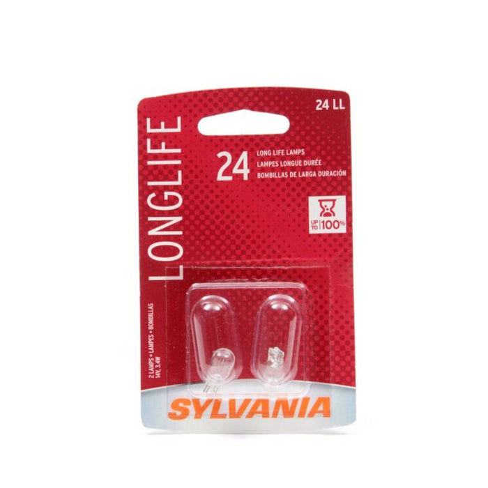 24LL.BP2 24 Sylvania Long Life Mini Bulbs