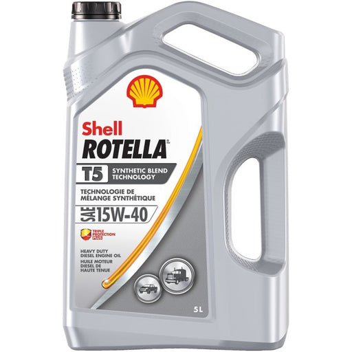 Rotella T5 Semi-Synthetic Diesel Oil, 5 L Jug