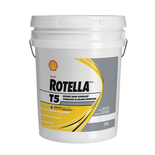 550045019 Rotella T5 10W30 Semi-Synthetic Diesel Oil, 18.9-L Pail