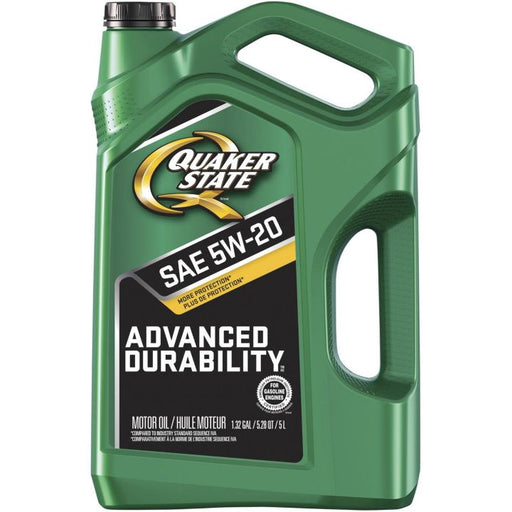5061005 Quaker State 5W20 Advanced Durability Conventional Engine Oil, 5-L
