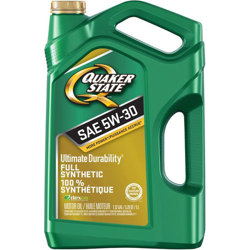 Quaker State Ultimate Durability Synthetic Engine Oil, 5-L
