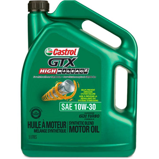 Castrol GTX High MileageEngine Oil, 5-L