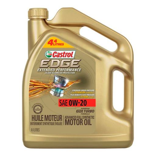 02060-89 Castrol EDGE 0W20 Extended Performance Synthetic Engine Oil, 4.4-L