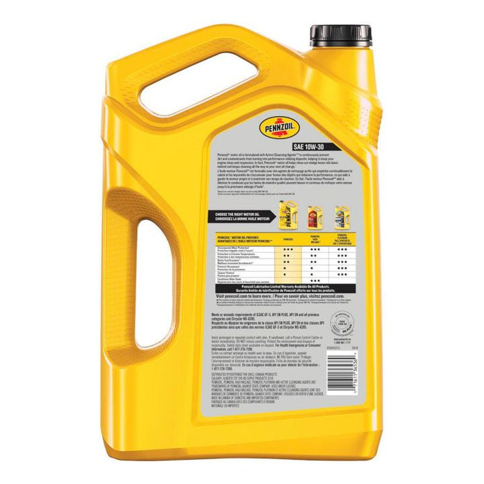 550032613 Pennzoil 10W30 Conventional Engine Oil, 5-L