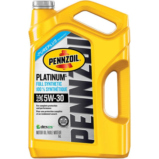 Pennzoil Platinum Synthetic Engine Oil, 5W30, 5-L
