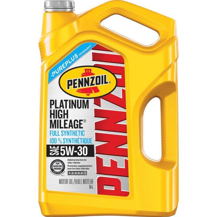 550049556 Pennzoil 5W30 Platinum Synthetic High Mileage Motor Oil, 5-L