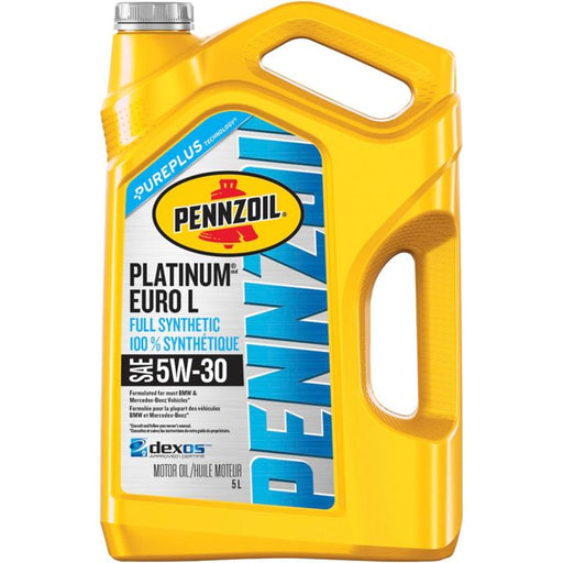 Pennzoil Platinum Euro Synthetic Motor Oil, 5 L