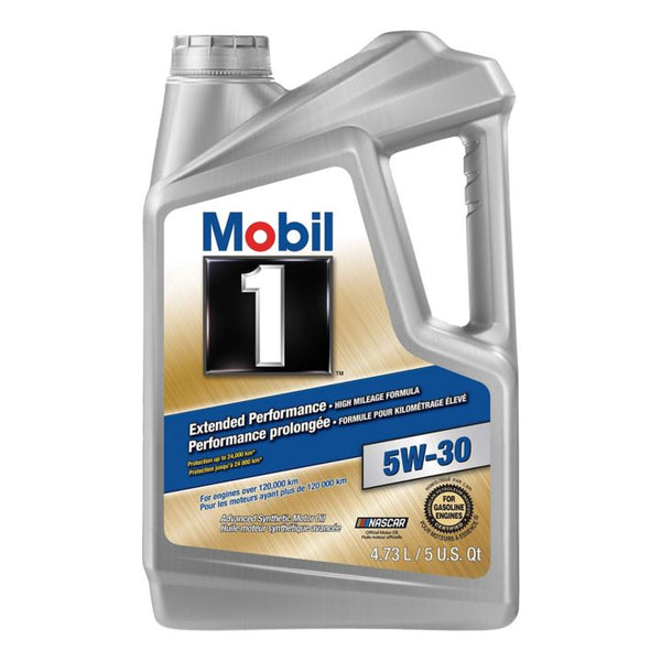 Mobil 1 Extended Performance High Mileage 5W30 Synthetic Motor Oil, 4.73-L