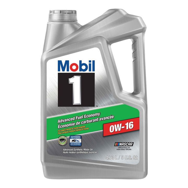 Mobil 1™ Advanced Fuel Economy Synthetic Motor Oil, 0W16, 4.73-L