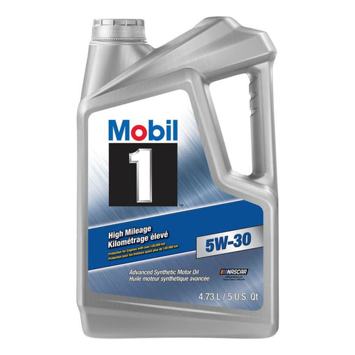 Mobil 1 Synthetic High Mileage Oil, 4.73 L