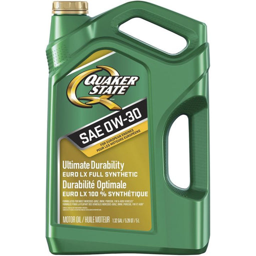 Quaker State Euro LX Full Synthetic Engine Oil, 0W30, 5-L