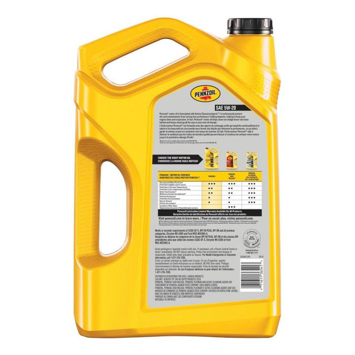 550032840 Pennzoil 5W20 Conventional Engine Oil, 5-L