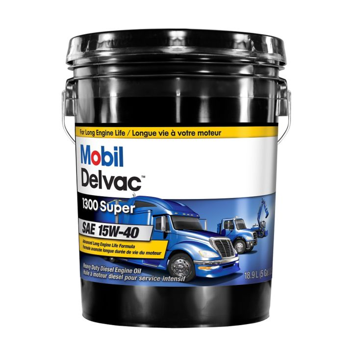 122893 Mobil Delvac15W40 Conventional Diesel Engine Oil, 18.9-L