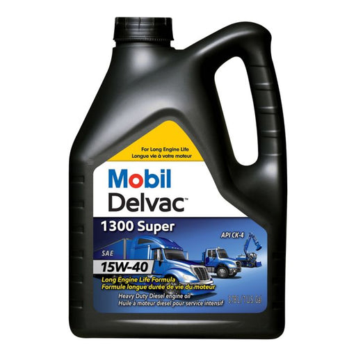 122882 Mobil Delvac 15W40 Conventional Diesel Engine Oil, 3.78-L