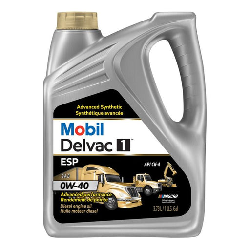 Mobil Delvac Synthetic Diesel 0W40 Oil, 3.78-L